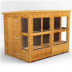 8 x 6 Premium Tongue and Groove Pent Potting Shed - Single Door - 12 Windows - 12mm Tongue and Groove Floor and Roof