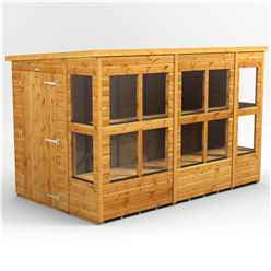 10 x 6 Premium Tongue and Groove Pent Potting Shed - Single Door - 14 Windows - 12mm Tongue and Groove Floor and Roof