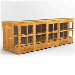 18 x 6 Premium Tongue and Groove Pent Potting Shed - Single Doors - 22 Windows - 12mm Tongue and Groove Floor and Roof