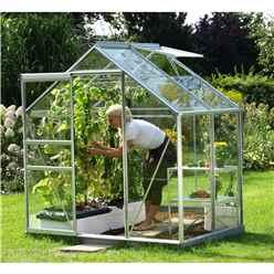 6ft x 4ft Value Anodised Aluminium Frame Greenhouse