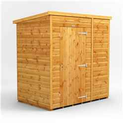 6 x 4 Premium Tongue and Groove Pent Shed - Single Door - Windowless - 12mm Tongue and Groove Floor and Roof
