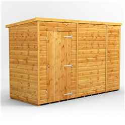10 x 4 Premium Tongue and Groove Pent Shed - Single Door - Windowless - 12mm Tongue and Groove Floor and Roof