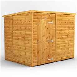 8 x 6 Premium Tongue and Groove Pent Shed - Single Door - Windowless - 12mm Tongue and Groove Floor and Roof