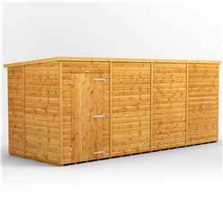 16 x 6 Premium Tongue and Groove Pent Shed - Single Door - Windowless - 12mm Tongue and Groove Floor and Roof