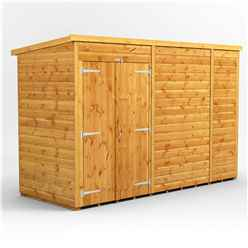 10 x 4 Premium Tongue and Groove Pent Shed - Double Doors - Windowless - 12mm Tongue and Groove Floor and Roof