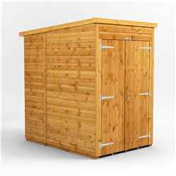 4 x 6  Premium Tongue and Groove Pent Shed - Double Doors - Windowless - 12mm Tongue and Groove Floor and Roof