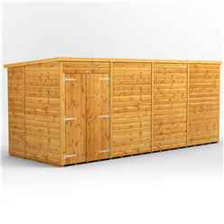 16 x 6 Premium Tongue and Groove Pent Shed - Double Doors - Windowless - 12mm Tongue and Groove Floor and Roof