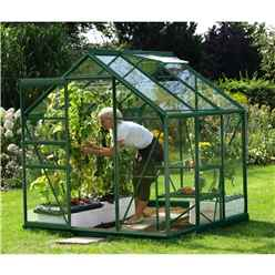 6ft x 4ft Value Green Metal Frame Greenhouse
