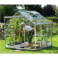 6ft x 6ft Value Anodised Aluminium Frame Greenhouse