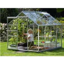 6ft x 8ft Value Anodised Aluminium Frame Greenhouse