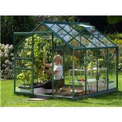 6ft x 8ft Value Green Metal Frame Greenhouse