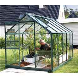 6ft x 10ft Value Green Metal Frame Greenhouse
