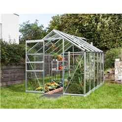 6ft x 8ft Premier Low Threshold Aluminium Frame Greenhouse
