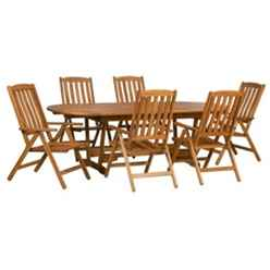 6 Seater Edinburgh Dining Set With Edinburgh Extension Table V Leg With 6 Manhattan Recliner Armchairs  - Free Next Working Day Delivery (Mon-Fri)