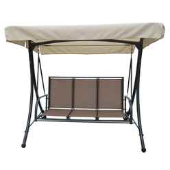 Taupe 3 Seater Swing Hammock - Free Next Working Day Delivery (Mon-Fri)