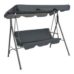3 Seater Black Cayman Swing Hammock - Free Next Working Day Delivery (Mon-Fri)