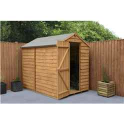 INSTALLED 7ft x 5ft Overlap Apex Shed Windowless (2.1m x 1.5m) - Modular - INCLUDES INSTALLATION