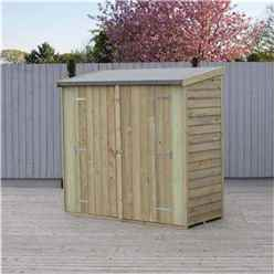 ** IN STOCK LIVE BOOKING ** 6 x 3 Pressure Treated Value Overlap Pent Windowless Wooden Garden Shed - Double Doors (11mm Solid OSB Floor) - CORE