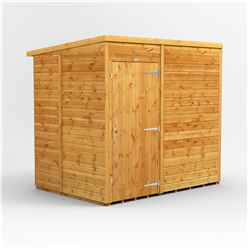 7 x 5 Premium Tongue And Groove Pent Shed - Single Door - Windowless - 12mm Tongue And Groove Floor And Roof
