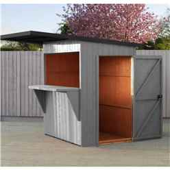 INSTILLATION INCLUDED 6 x 4 (1.79m x 1.19m) - Premier Garden Bar And Store  - 12mm Walls - Roof - Floor (CORE) - INSTALLED