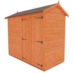 8 x 4 Windowless Tongue and Groove Shed with Double Doors (12mm Tongue and Groove Floor and Apex Roof)