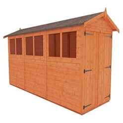 12 x 4 Tongue and Groove Shed with Double Doors (12mm Tongue and Groove Floor and Apex Roof)