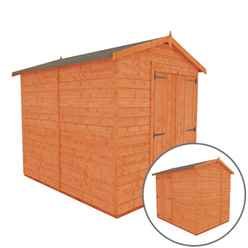 8 x 6 Windowless Tongue and Groove Shed with Double Doors (12mm Tongue and Groove Floor and Apex Roof)