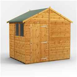 6 x 8  Premium Tongue and Groove Apex Shed - Single Door - 2 Windows - 12mm Tongue and Groove Floor and Roof