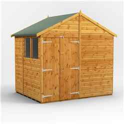 6 x 8  Premium Tongue and Groove Apex Shed - Double Doors - 2 Windows - 12mm Tongue and Groove Floor and Roof