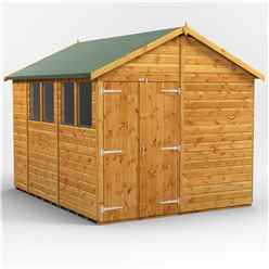 10 x 8 Premium Tongue and Groove Apex Shed - Double Doors - 4 Windows - 12mm Tongue and Groove Floor and Roof