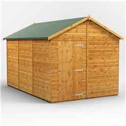 12 x 8  Premium Tongue and Groove Apex Shed - Single Door - Windowless - 12mm Tongue and Groove Floor and Roof