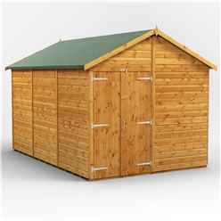 12 x 8 Premium Tongue and Groove Apex Shed - Double Doors - Windowless - 12mm Tongue and Groove Floor and Roof