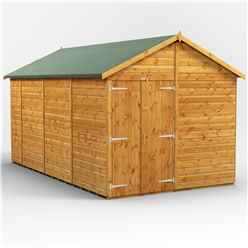 14 x 8 Premium Tongue and Groove Apex Shed - Double Doors - Windowless - 12mm Tongue and Groove Floor and Roof