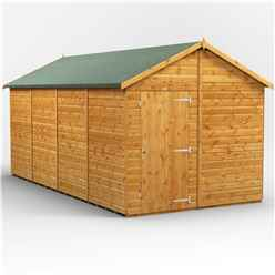 16 x 8  Premium Tongue and Groove Apex Shed - Single Door - Windowless - 12mm Tongue and Groove Floor and Roof