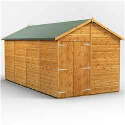 16 x 8 Premium Tongue and Groove Apex Shed - Double Doors - Windowless - 12mm Tongue and Groove Floor and Roof