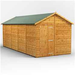 18 x 8  Premium Tongue and Groove Apex Shed - Single Door - Windowless - 12mm Tongue and Groove Floor and Roof