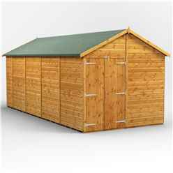 18 x 8 Premium Tongue and Groove Apex Shed - Double Doors - Windowless - 12mm Tongue and Groove Floor and Roof