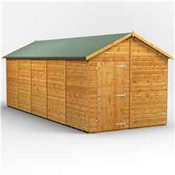 20 x 8 Premium Tongue and Groove Apex Shed - Single Door - Windowless - 12mm Tongue and Groove Floor and Roof