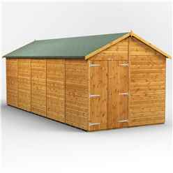 20 x 8 Premium Tongue and Groove Apex Shed - Double Doors - Windowless - 12mm Tongue and Groove Floor and Roof