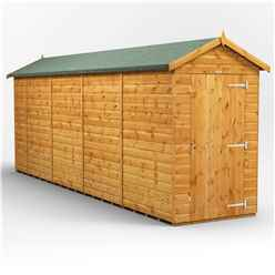 18 x 4 Premium Tongue and Groove Apex Shed - Single Door - Windowless - 12mm Tongue and Groove Floor and Roof