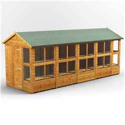 18 x 6 Premium Tongue and Groove Apex Potting Shed - Double Doors - 22 Windows - 12mm Tongue and Groove Floor and Roof