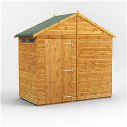 4 x 8 Security Tongue and Groove Apex Shed - Single Door - 2 Windows - 12mm Tongue and Groove Floor and Roof