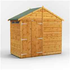 4 x 8 Security Tongue and Groove Apex Shed - Double Doors - 2 Windows - 12mm Tongue and Groove Floor and Roof