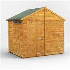 6 x 8  Security Tongue and Groove Apex Shed - Single Door - 2 Windows - 12mm Tongue and Groove Floor and Roof