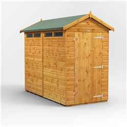 8 x 4 Security Tongue and Groove Apex Shed - Single Door - 4 Windows - 12mm Tongue and Groove Floor and Roof
