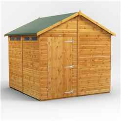 8 x 8 Security Tongue and Groove Apex Shed - Single Door - 4 Windows - 12mm Tongue and Groove Floor and Roof