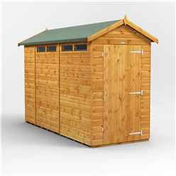 10 x 4 Security Tongue and Groove Apex Shed - Single Door - 4 Windows - 12mm Tongue and Groove Floor and Roof