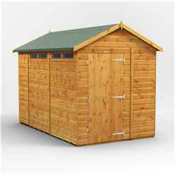 10 x 6 Security Tongue and Groove Apex Shed - Single Door - 4 Windows - 12mm Tongue and Groove Floor and Roof