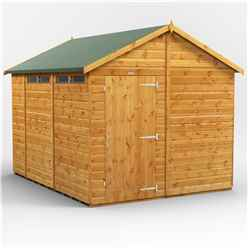 10 x 8 Security Tongue and Groove Apex Shed - Single Door - 4 Windows - 12mm Tongue and Groove Floor and Roof