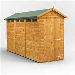 12 x 4 Security Tongue and Groove Apex Shed - Single Door - 6 Windows - 12mm Tongue and Groove Floor and Roof